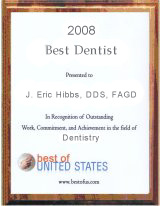 Best of US Dentists 2008 Plaque